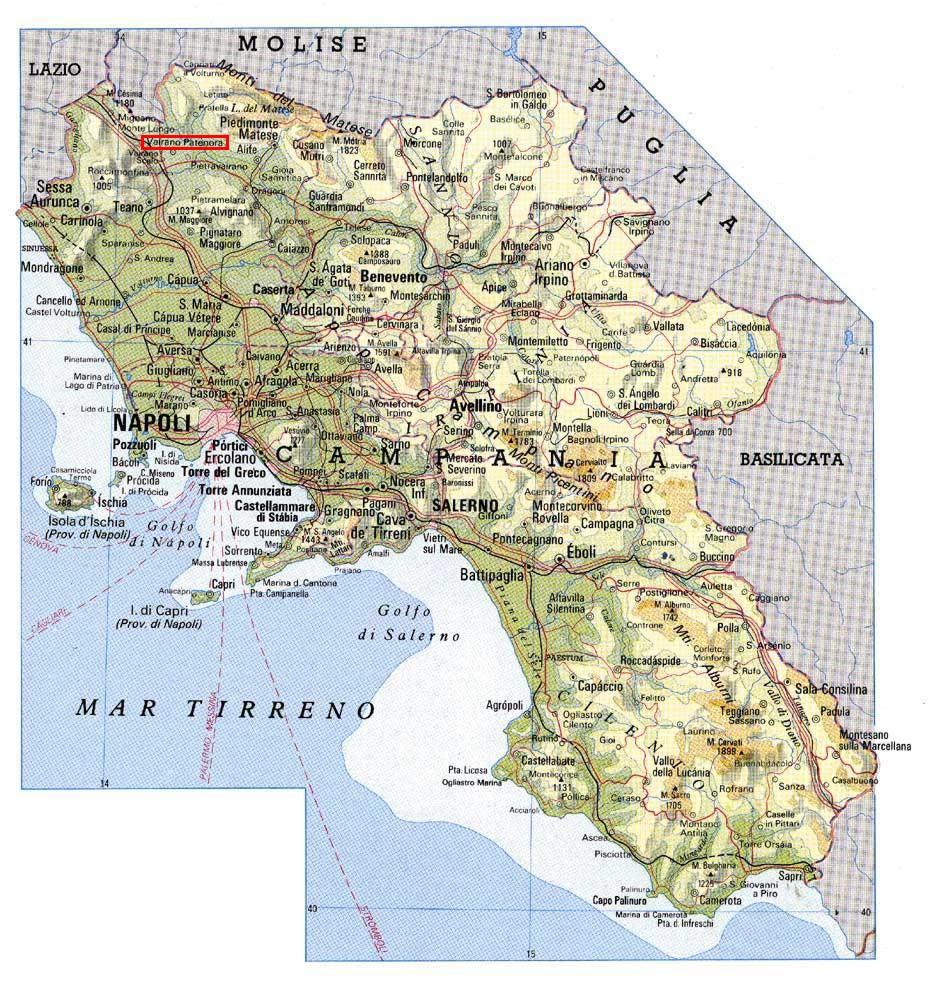 La Cartina Geografica Della Campania.Cartine